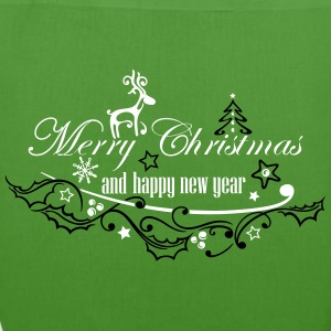 Merry Christmas with reindeer - EarthPositive Tote Bag