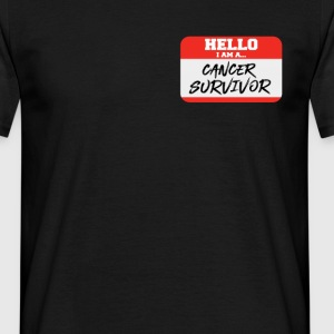 Hello I Am A Cancer Survivor T-Shirts - Men's T-Shirt