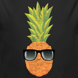 Pineapple With Sunglasses | Cool Illustration Babybody - Økologisk langermet baby-body