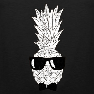 Pineapple With Sunglasses & Bow Tie Illustration Sports wear - Men's Premium Tank Top