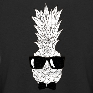 Pineapple With Sunglasses & Bow Tie Illustration Langarmede T-skjorter - Premium langermet T-skjorte for barn