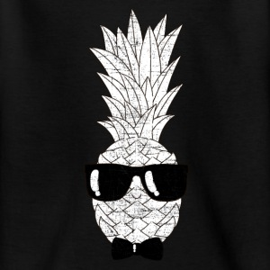 Pineapple With Sunglasses & Bow Tie Illustration Shirts - Teenage T-shirt
