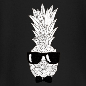 Pineapple With Sunglasses & Bow Tie Illustration Baby Long Sleeve Shirts - Baby Long Sleeve T-Shirt
