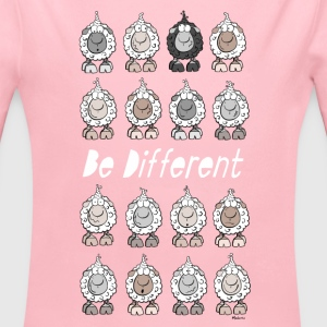 Be Different Schafe Baby Bodys - Baby Bio-Langarm-Body