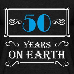 50 years on earth T-shirts - Mannen T-shirt