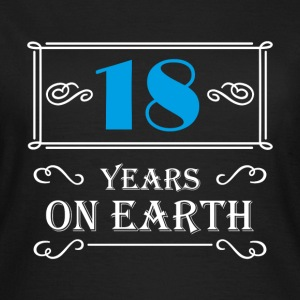 18 years on earth T-shirts - Dame-T-shirt