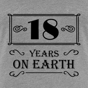 18 years on earth T-Shirts - Women's Premium T-Shirt