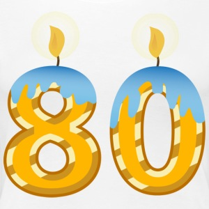 80th Birthday Candles - Women's Premium T-Shirt