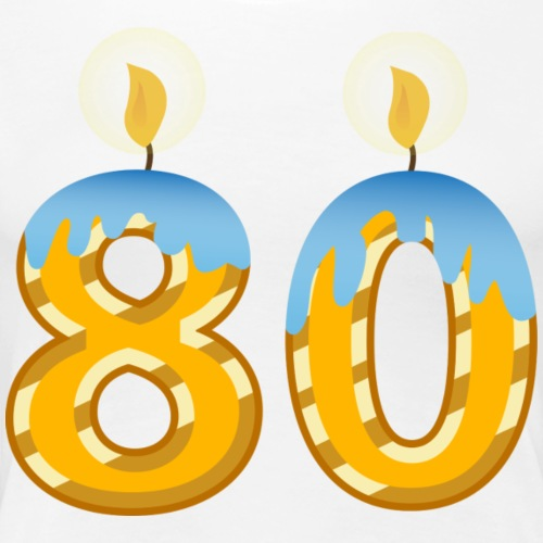 80th Birthday Candles