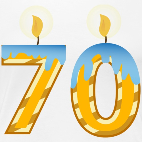 70th Birthday Candles