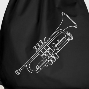 Trumpet brass instrument Bags & Backpacks - Drawstring Bag