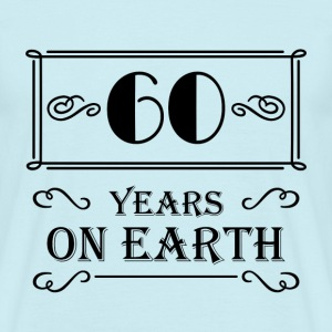 60 years on earth T-shirts - Herre-T-shirt