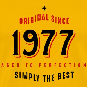 original since 1977 simply the best 40. Geburtstag T-Shirts - Männer Premium T-Shirt