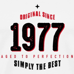 original since 1977 simply the best 40. Geburtstag - Männer Premium T-Shirt