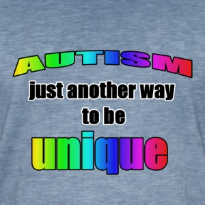 Autism- - another way to be unique - Männer Vintage T-Shirt