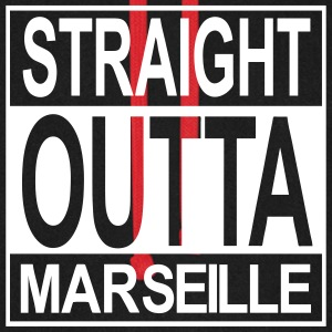 Straight outta Marseille - Sweat-shirt baseball unisexe