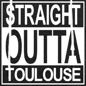 Straight outta Toulouse - Sweat-shirt à capuche léger unisexe