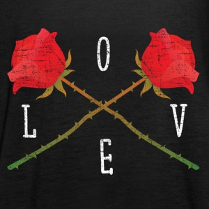 Love | Rose Crossed | Cool Gift Design Toppar - Tanktopp dam från Bella