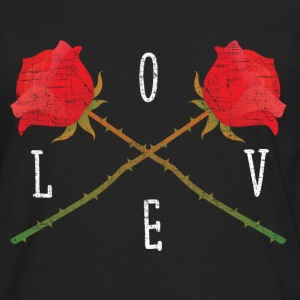 Love | Rose Crossed | Cool Gift Design Manga larga - Camiseta de manga larga premium hombre
