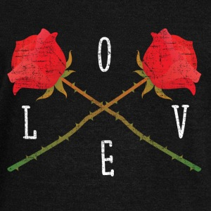 Love | Rose Crossed | Cool Gift Design Hoodies & Sweatshirts - Women's Boat Neck Long Sleeve Top