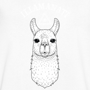 Illamanati | Cool Llama Design with Triangle T-shirts - Mannen T-shirt met V-hals