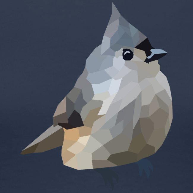 Polygon Art: Tufted Titmouse T-Shirts