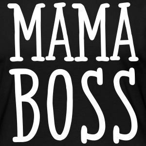 Mama Boss Manches longues - T-shirt manches longues Premium Femme