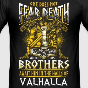 Does Not Fear Death - Viking - EN T-shirts - Herre Slim Fit T-Shirt