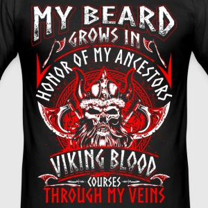 My Beard Honor - Viking - EN T-Shirts - Men's Slim Fit T-Shirt