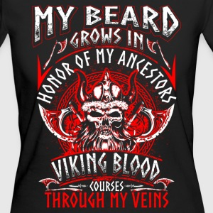 My Beard Honor - Viking - EN Tee shirts - T-shirt Bio Femme