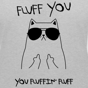Fluff You - You Fluffin' Fluff | Geek Cat Design T-Shirts - Women's V-Neck T-Shirt