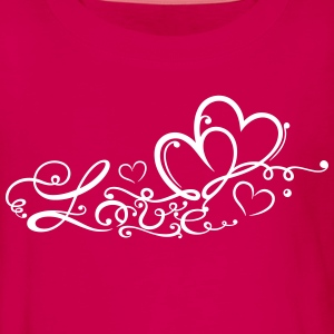 Two hearts in love with lettering - Teenagers' Premium Longsleeve Shirt