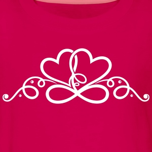 Two hearts in love with infinity symbol. - Teenagers' Premium Longsleeve Shirt