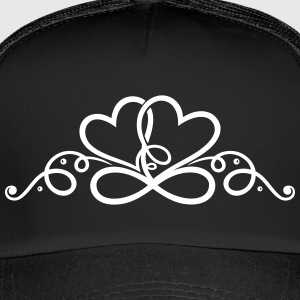 Two hearts in love with infinity symbol. - Trucker Cap