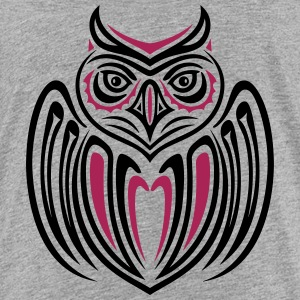 Large owl with wings in Haida Style. - Teenage Premium T-Shirt