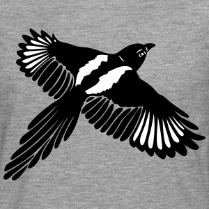 Magpie with large wings. - Men's Premium Longsleeve Shirt