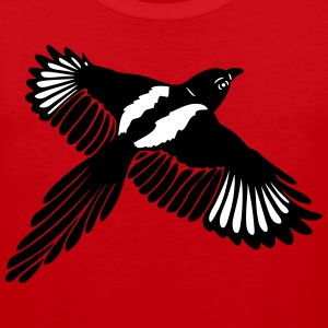 Magpie with large wings. - Men's Premium Tank Top