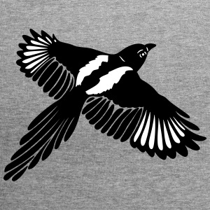 Magpie with large wings. - Jersey Beanie