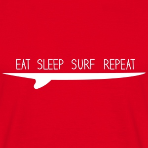eat sleep surf repeat T-Shirts - Männer T-Shirt