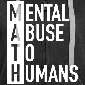 MATH | Mental Abuse To Humans Bluzy - Rozpinana bluza damska z kapturem Premium