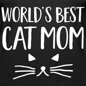 World's Best Cat Mom Topper - Premium singlet for kvinner