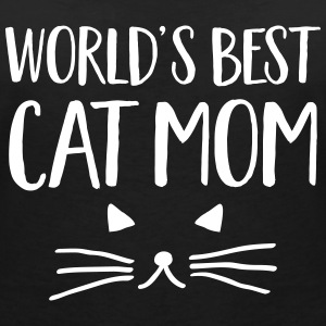 World's Best Cat Mom T-Shirts - Women's V-Neck T-Shirt