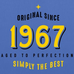 original since 1967 simply the best 50. Geburtstag - Stoffbeutel