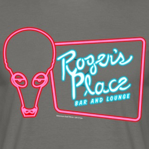 American Dad Roger's Place Bar Sign - Men's T-Shirt