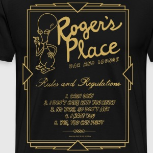 American Dad Roger's Place Bar Poster - Men's Premium T-Shirt