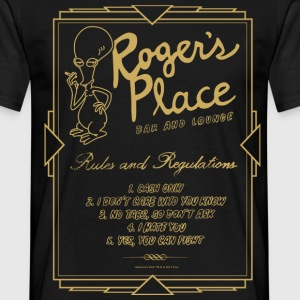 American Dad Roger's Place Bar Poster - Men's T-Shirt