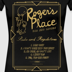 American Dad Roger's Place Bar Poster - Women's Premium T-Shirt