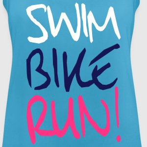 Swim Bike Run! - Triathlon Sportbekleidung - Frauen Tank Top atmungsaktiv