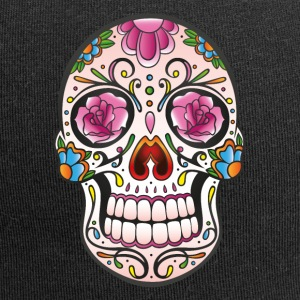 Traditional Mexican sugar skull - Jersey Beanie