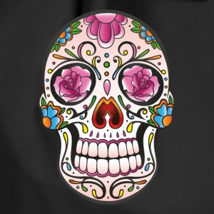 Ein traditioneller sugar skull aus Mexiko.  - Turnbeutel